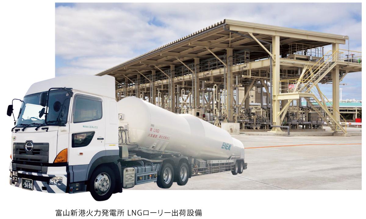 富山新港火力発電所 LNGローリー出荷設備